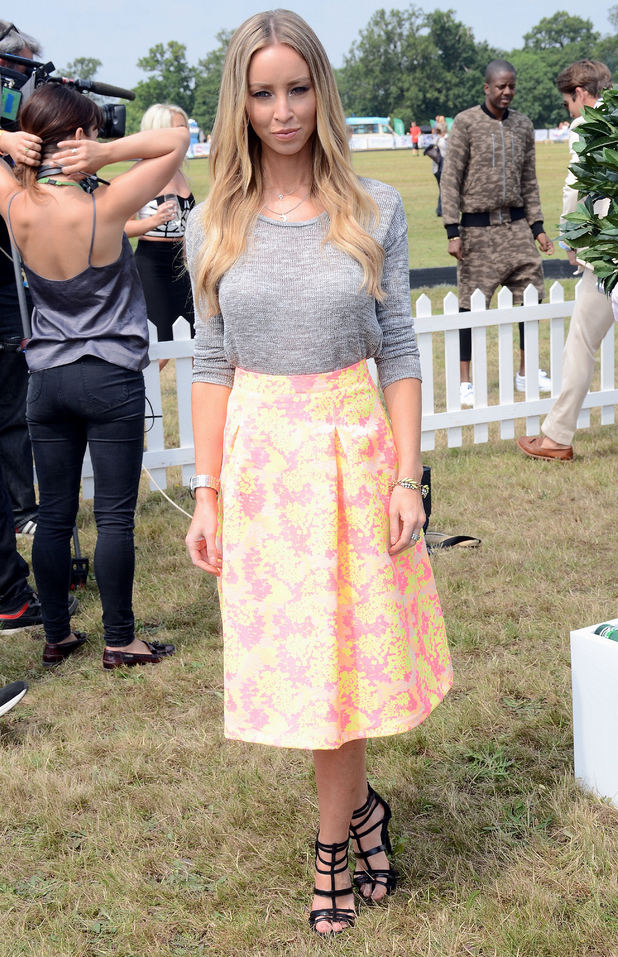 Lauren Pope attends the Duke of Essex Polo Grand Prix in Hylands Park, Chelmsford - 12 July 2014