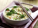 Tenderstem and chicken Vietnamese noodle soup