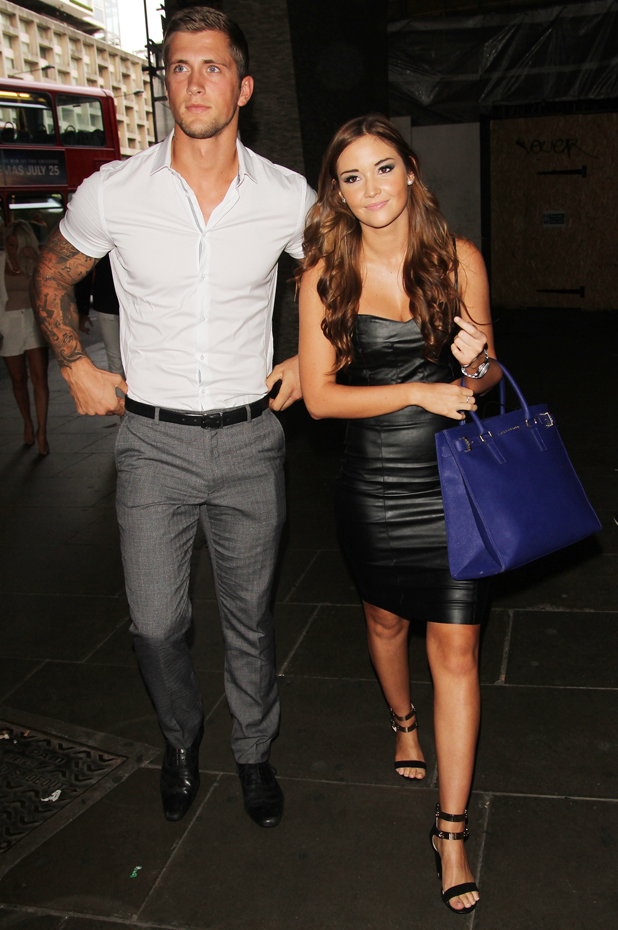 Jacqueline Jossa and Dan Osborme attend the 'Attitude Hot 100 Party' held at Paramount, 16 July 2014
