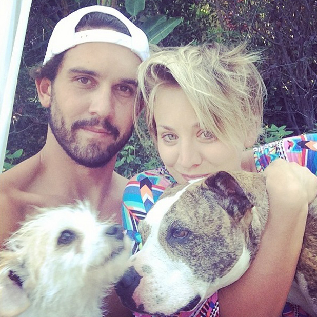 Kaley Cuoco and Ryan Sweeting after his 27th birthday, 14 July 2014