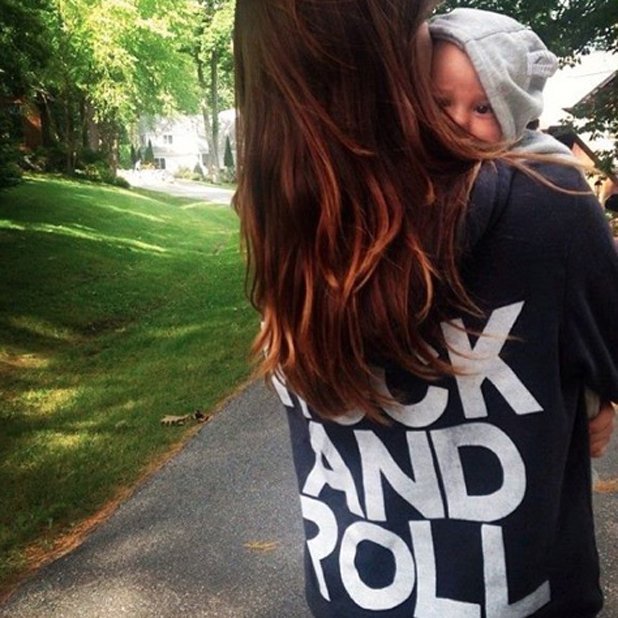 Olivia Wilde shares picture of her son Otis Alexander, 17 July 2014