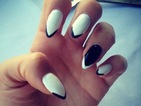 Copy TOWIE's Lydia Bright's chic monochrome arrow nail art