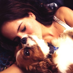Binky Felstead and dog Scrumble, Instagram, 21 July