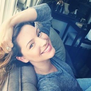 Kelly Brook runs lines for One Big Happy, LA, Instagram, 22 July