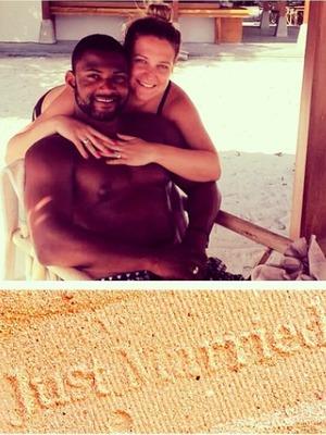 JB Gill posts honeymoon snap with wife Chloe, June 14.