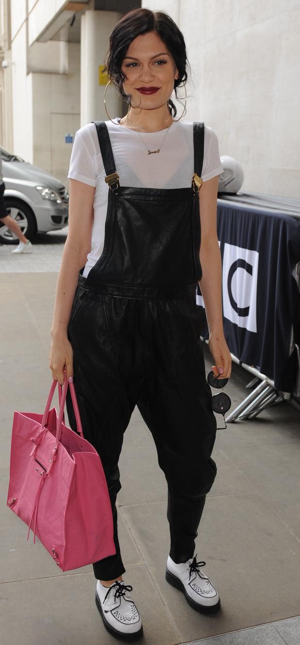 Jessie J outside Radio 1, 23 July