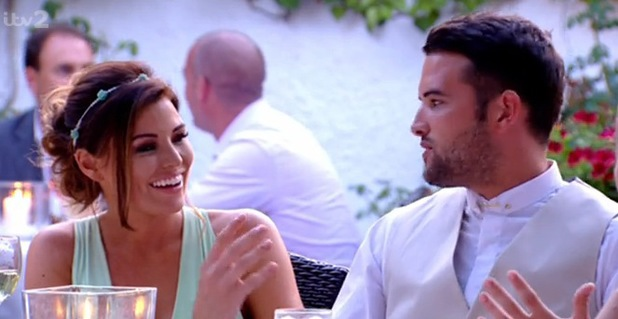 Ricky and Jess at Leah Wright's wedding, TOWIE, ITV, 23 July