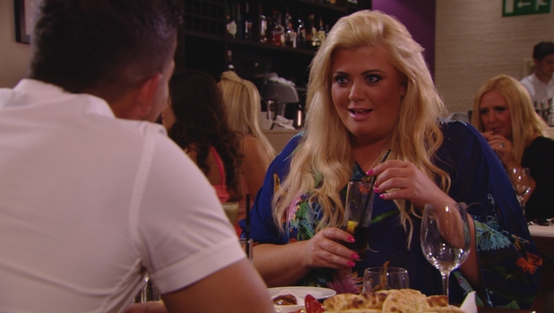 Gemma Collins shocked at mystery date's revelation. TOWIE episode airs 23 July 2014.