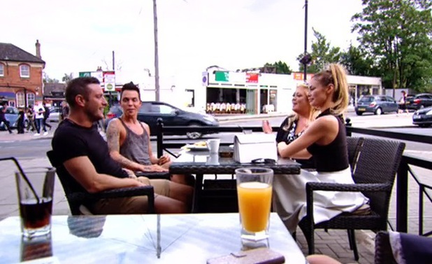 TOWIE: Elliott Wright and Chloe Sims have lunch with Bobby and Gemma. Aired 20 July.