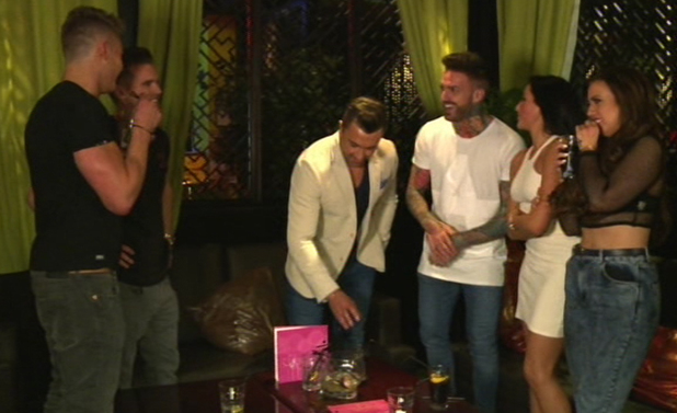 Gaz Beadle turns up with Aaron Chalmers, Geordie Shore, Series 8 - Episode 1, MTV, 22 July