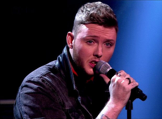 James Arthur is seen performing on 'X Factor' Shown on ITV1 HD 5.11.12