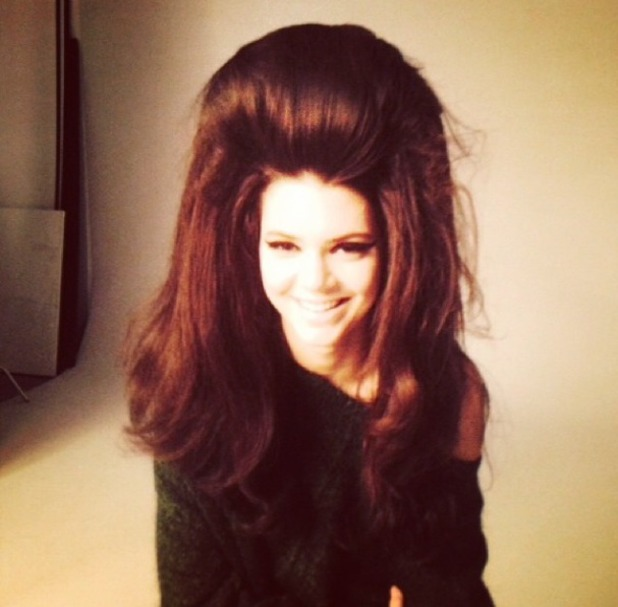 Kendall Jenner, 'big hair don't care' behind-the-scenes for Love Magazine shoot, 20 July 2014