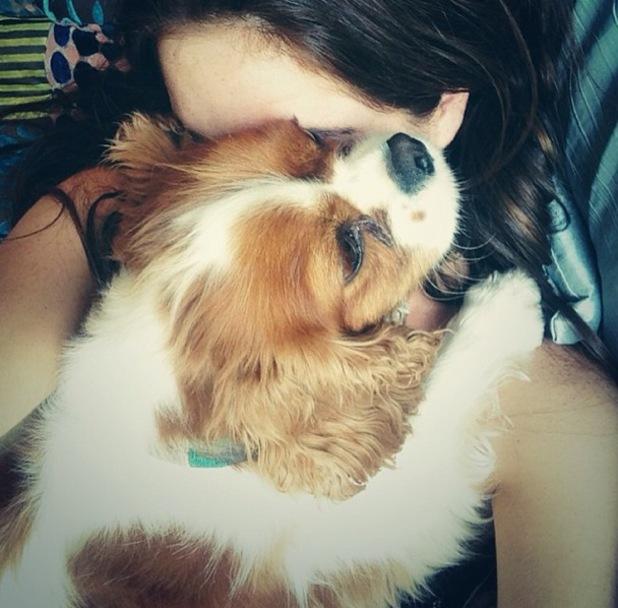 Binky Felstead and her dog Scrumble, Instagram, 21 July