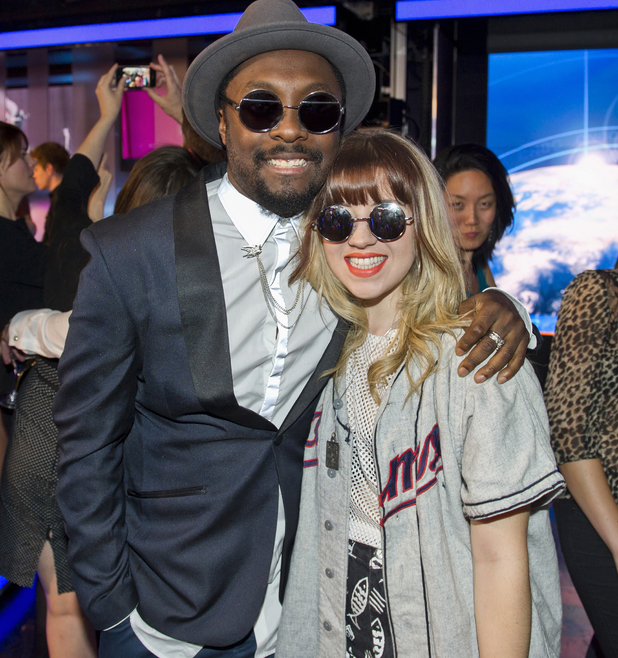 Former The Voice contestant Leah McFall and Will.I.Am 03/25/2014 London, United Kingdom