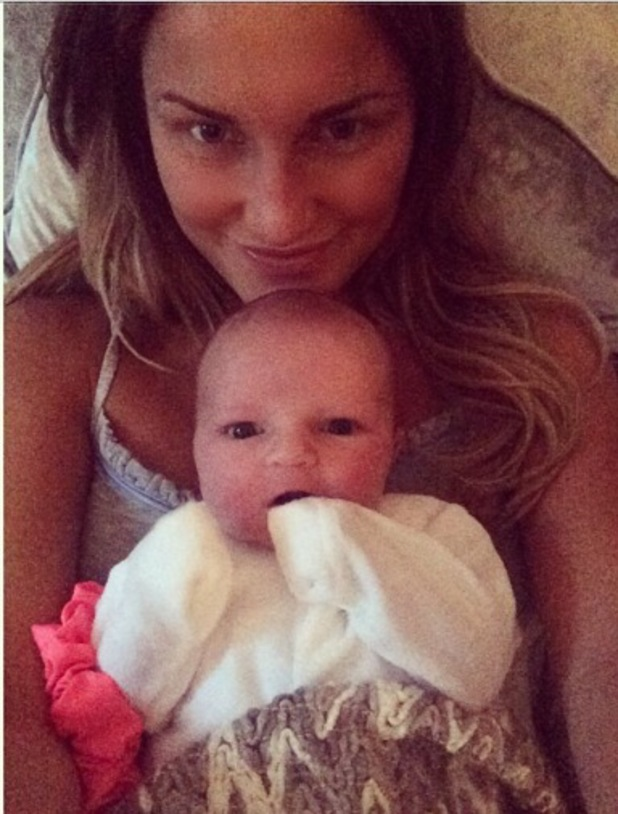 TOWIE's Sam Faiers cuddles niece Nelly - 23 July 2014