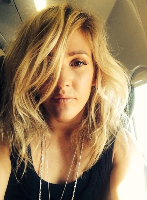 Ellie Goulding takes another flight, July 2014.