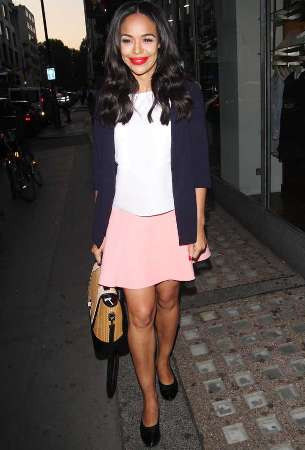 Sarah-Jane Crawford, French Connection launch party, Oxford Street, London, 23 July