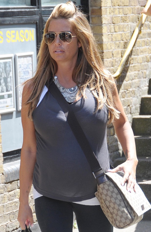 Pregnant Katie Price leaves Fubar Radio - 22 July 2014