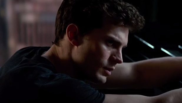 Screenshot from Fifty Shades of Grey trailer, released 24 July 2014