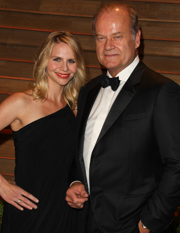 Kayte Walsh and Kelsey Grammer at the 2014 Vanity Fair Oscar Party in West Hollywood, 2014