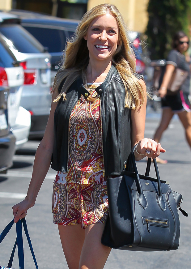 Kristin Cavallari, looking very stylish, goes shopping at HomeGoods in Los Angeles, 24 July 2014