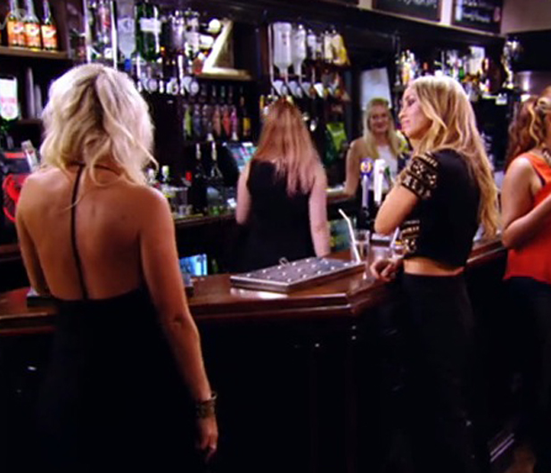 Lauren Pope and Danielle Armstrong on TOWIE, aired 23 July 2014