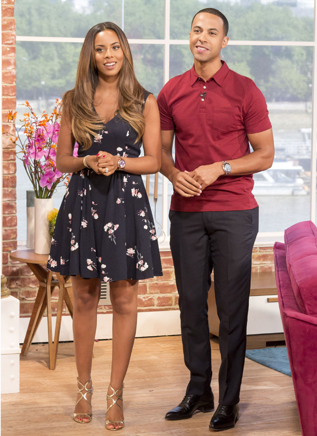 This Morning' TV Programme, London, Britain - 25 Jul 2014 Marvin Humes and Rochelle Humes