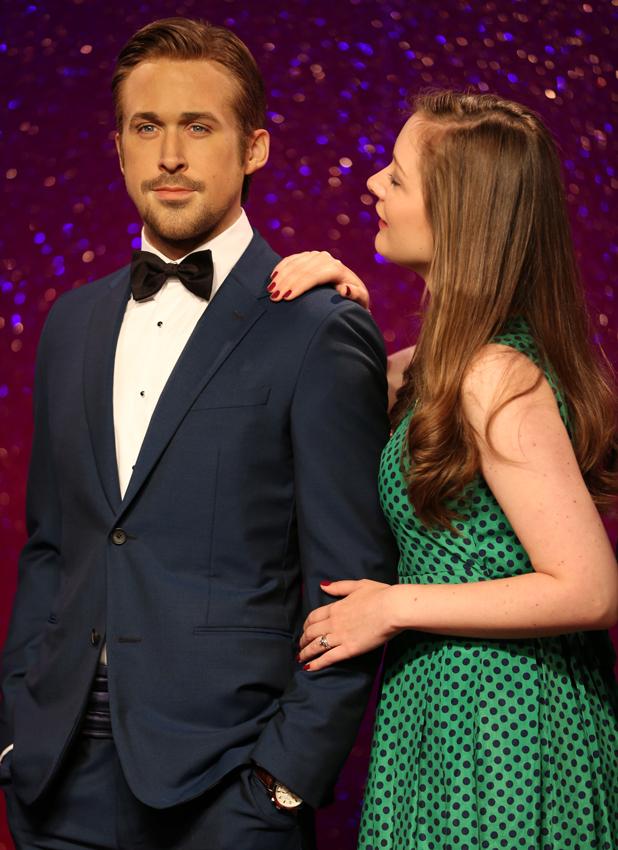 Ryan Gosling waxwork visits Madame Tussauds London, 23 July 2014