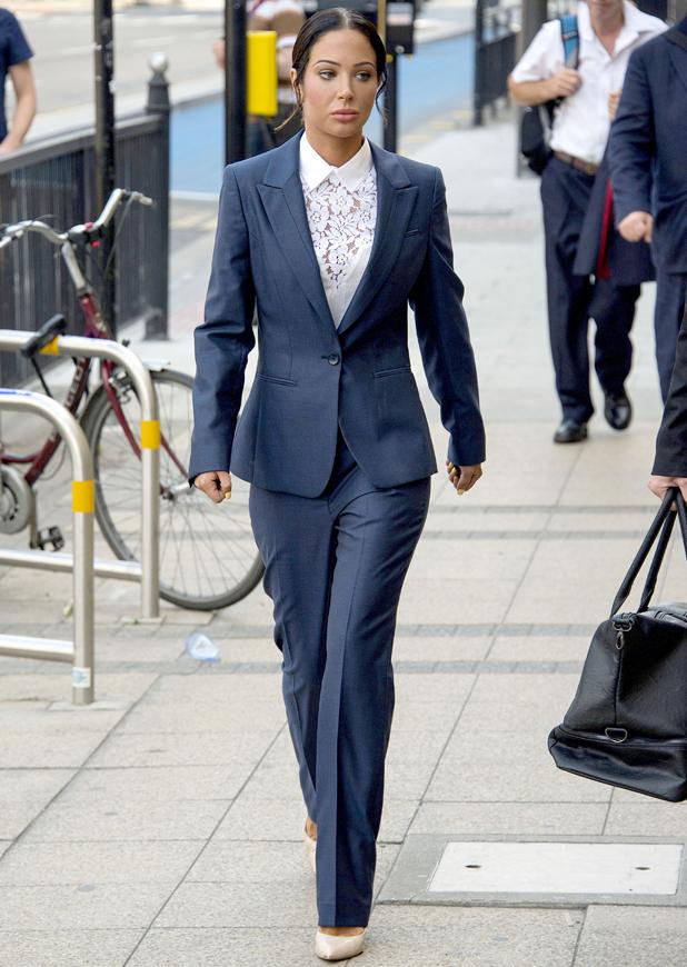 Tulisa Contostavlos arrives to Stratford Magistrates Court, Essex, Britain - 25 Jul 2014