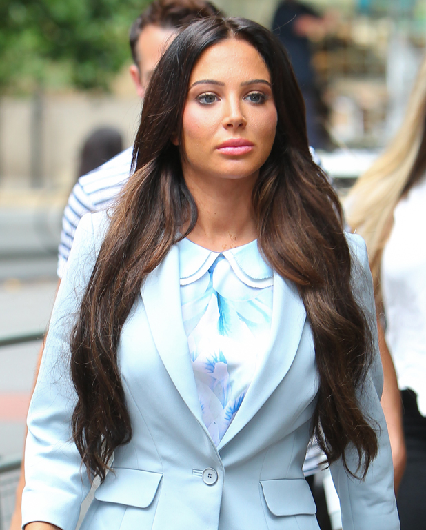 Tulisa Contostavlos arrives at Southwark Crown Court for day 6 of her trial, 21 July 2014