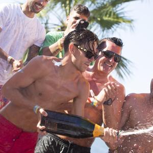 Joey Essex birthday at Ocean Beach Ibiza 29 July