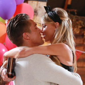 Lauren Pope and Lewis Bloor at TOWIE's season finale Grease-themed party, Essex 27 July