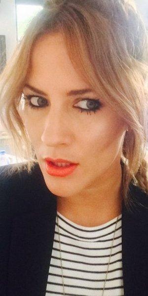 Caroline Flack shows off her kohl lined eyes - HDBrows Kajal, 31 July 2014