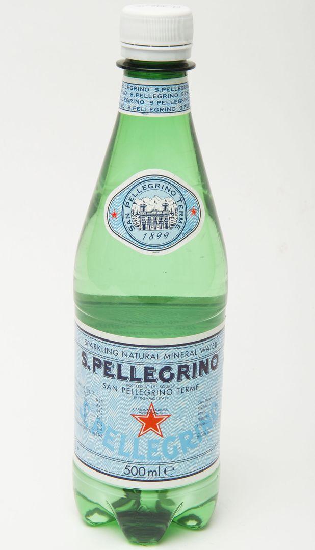 Bottle of San Pellegrino water