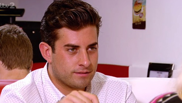 James 'Arg' Argent talks to Gemma Collins about Lydia Bright on TOWIE, 27 July 2014