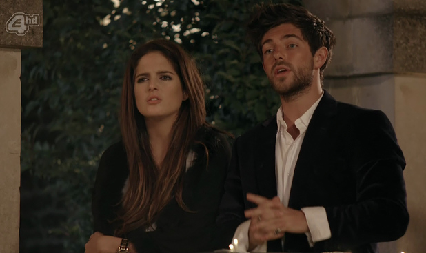 Alex Mytton and Binky Felstead confront their friends and ask them to butt out of their relationship on 'Made In Chelsea'. 17 June 2014.