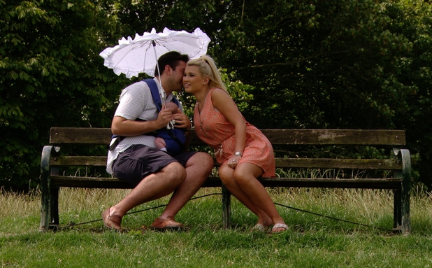 TOWIE preview: James 'Arg' Argent hangs out with Billie Faiers and her baby daughter Nelly Shepherd. Airs: Wednesday 30 July 2014.