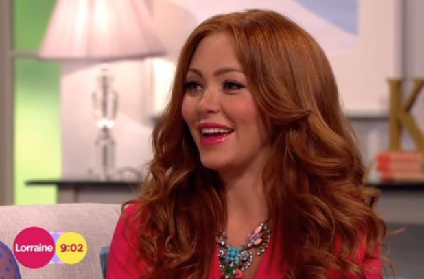Natasha Hamilton appeared with Atomic Kitten on Lorraine, ITV, London 29 July