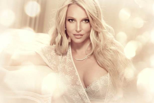 Britney Spears models her new lingerie line called The Intimate Britney Spears - 30 July 2014