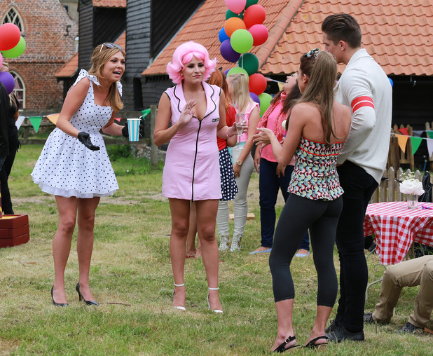 The Only Way is Essex (TOWIE) filming a Grease themed party, Kent, Britain - 27 Jul 2014