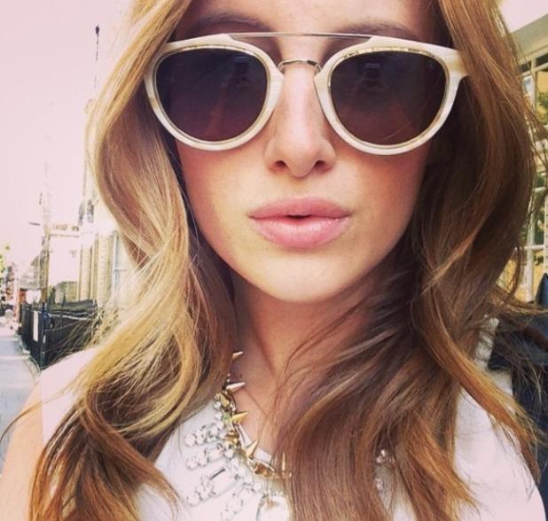 Rosie Fortescue posts selfie, July 2014.