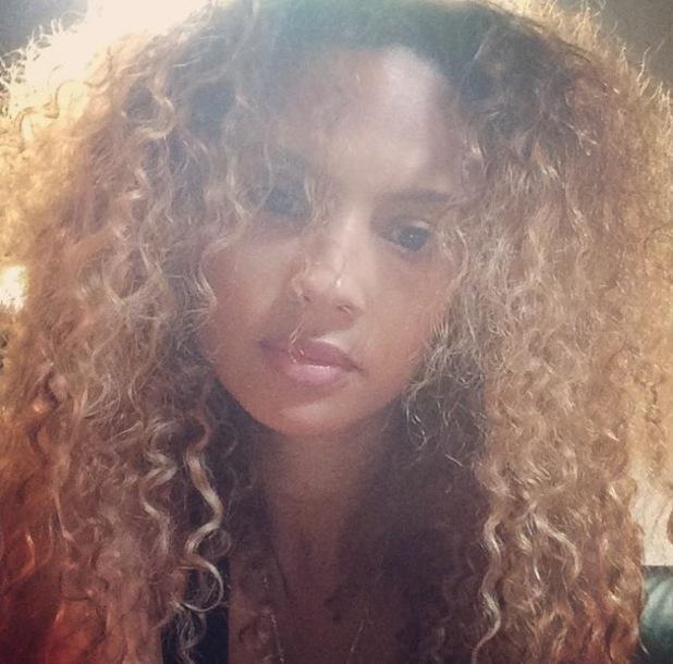 Alesha Dixon new big hair, Instagram 30 July