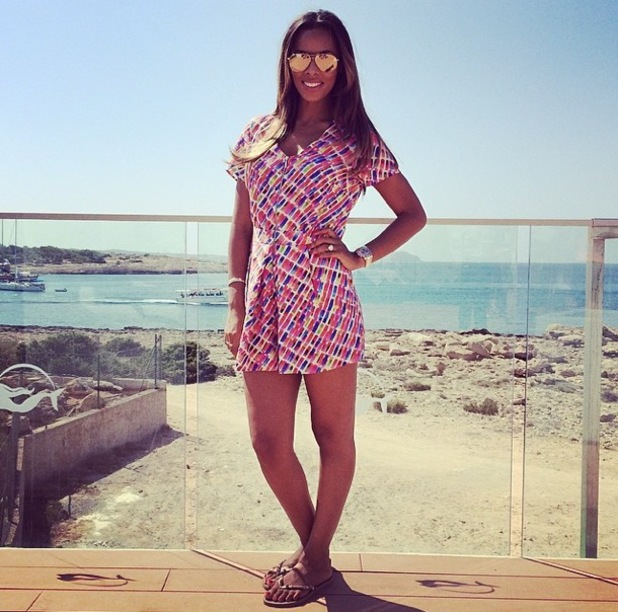 Rochelle Humes in her own collection for Very, Instagram 1 August
