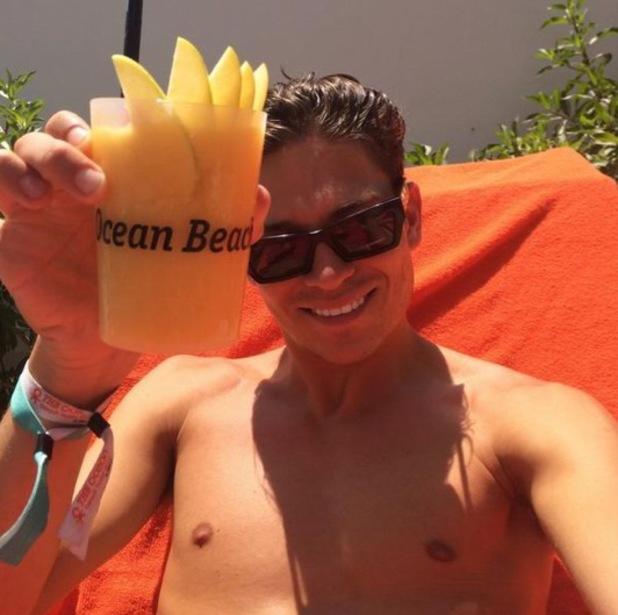 Joey Essex in Ibiza, Twitter 29 July