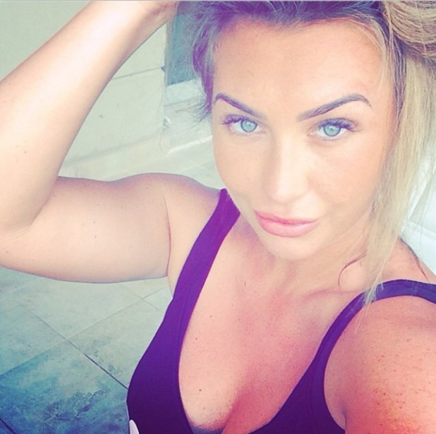 TOWIE's Lauren Goodger poses for a selfie after speaking about her sex tape - 28 July 2014