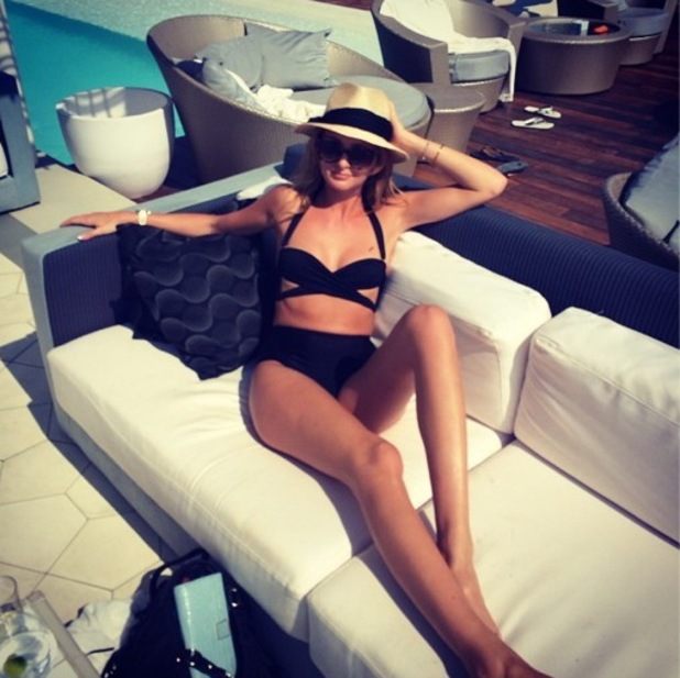 Millie Mackintosh by the pool in Ibiza, Instagram 31 July