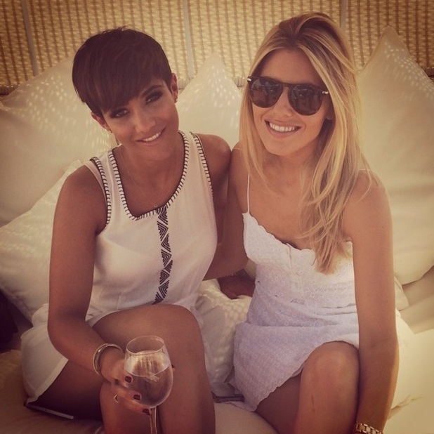 Frankie Sandford shows off new shorter hair in Ibiza, 2 August 2014