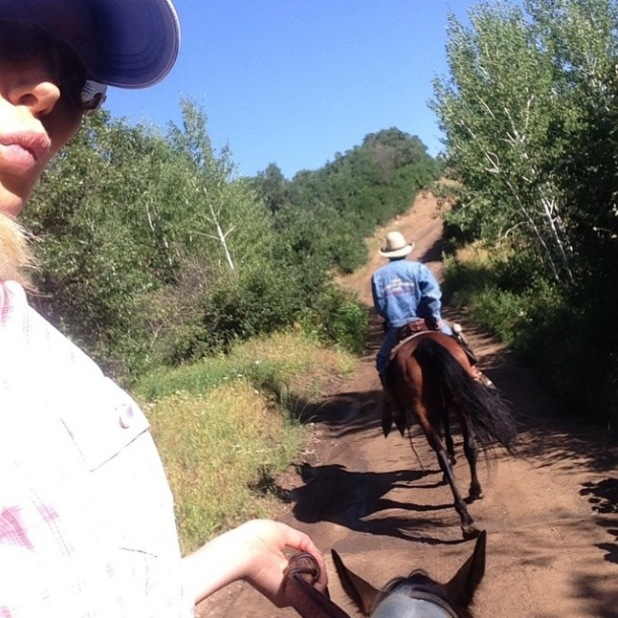 The Hills' Heidi Montag goes horse riding with her dad in Colorado - 31 July 2014