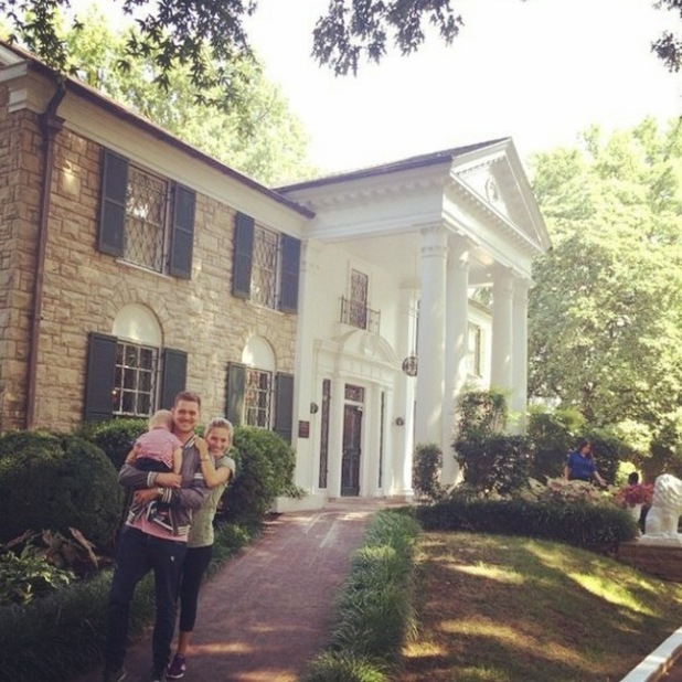 Michael Buble visits Graceland with wife Luisana and son Noah - 31 July 2014