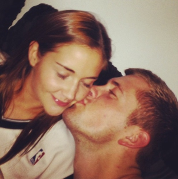 Jacqueline Jossa and Dan Osborne kiss in a new selfie at home - 29 July 2014